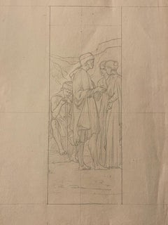 Study for a Painting - Original pencil Drawing - Early 20th Century