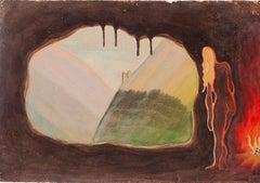 Mental Rainbow - Original Mixed Media by Jean Delpech - 1940
