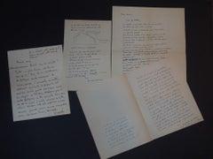 Vita Col Padre - 4 Autograph Letters Signed by Gerardo Guerrieri - 1947