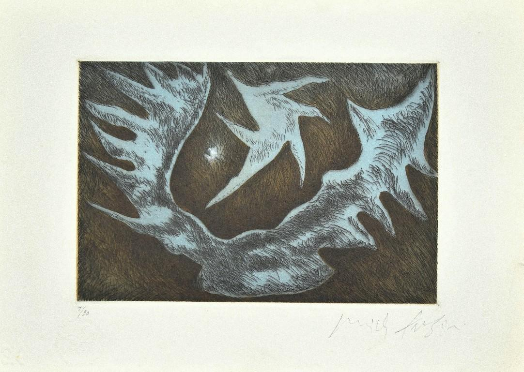 Northern Light - Original Etching on Paper by Pericle Fazzini - 1982