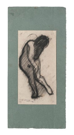 Figure - Original Drawing on Paper by Daniel Ginsbourg - 1921