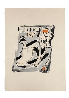 Composition - Original Tempera on Paper by Mario Martini - 1970