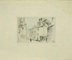 Country - Original Etching by Edmond Henri Zeiger de Baugy Valley - 1949