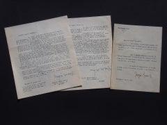 Typewritten Letters Signed by Sergio Romiti to Nesto Jacometti - 1951