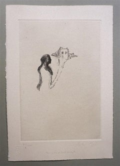 The Dream of Saint Lucia - Original Etching on Paper by Andrea Fogli - 2004
