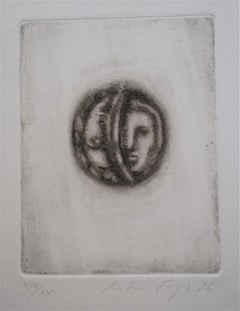 Of the Shadows - Original Etching and Drypoint on paper by Andrea Fogli - 1984