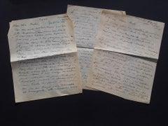 Autograph Letters Signed by Ossip Zadkine to Nesto Jacometti - 1946 ca.