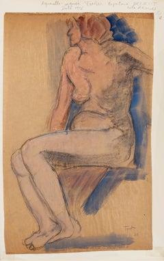 Nude of Woman - Original Mixed Media - 1926
