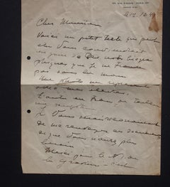 Autograph Letters Signed by Ossip Zadkine to Nesto Jacometti - 1949