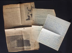 Set of 3 Autograph Letters by O. Zadkine -1950s