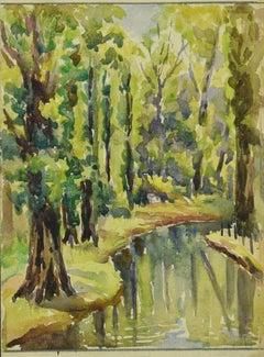 Landscape - Original Watercolor - 1895