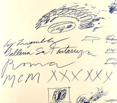 Vintage Cy Twombly Exhibition Leaflet - Galleria La Tartaruga 1960