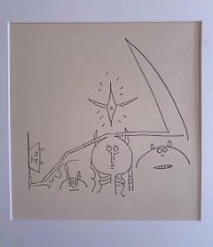 Composition - Original Lithograph by Wilfredo Lam - 1970s