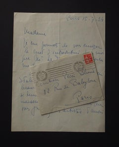 Autograph Letter Signed by Madeleine Grey - 1934