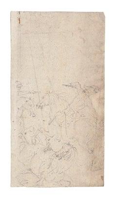 Horses - Original Pencil Drawing - Mid-20th Century