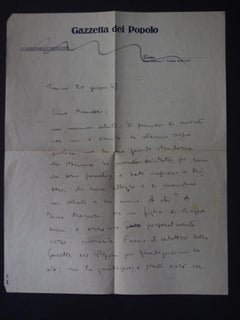 Autograph Letter Signed by Eugenio Galvano - 1949