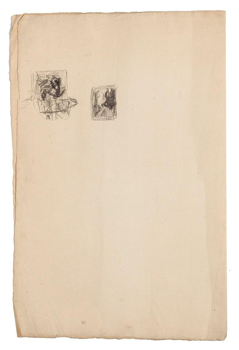 Paesant Woman - Original Pencil Drawing - Late 19th Century - Art by René Francois Xavier Prinet