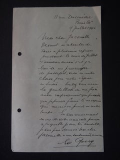Autograph Letter Signed by Georg Solti - 1946