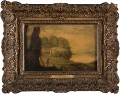 Shepered in the Landscape - Oil on Board by circle of J. De Momper -17th Century