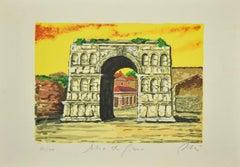 Roman Arch - Original Screen Print Print by Marco Orsi - 1980s