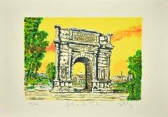 Roman Arch - Original Screen Print by Marco Orsi - 1980s