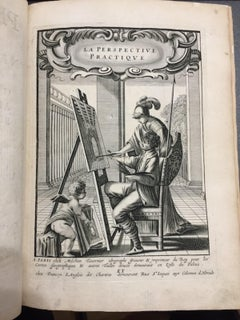 La Perspective Pratique - Rare Ancient Illustrated Book by Jean Dubrenil - 1642