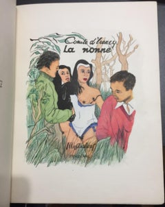 La Nonne - Rare Book with Illustrations by Foujita - 1950 ca