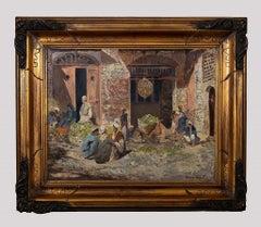 Orientalist Interior - Oil Painting on Board by Paolo Minardi - 20th Century