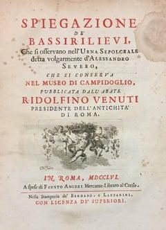 Spiegazione de' bassirilievi dell'urna detta d'Alessandro Severo - 1756