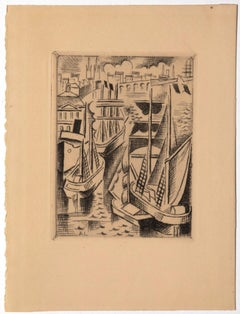 Bordeaux - Original Etching on Paper by André Lothe - Early 20th Century