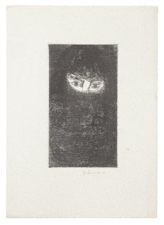 The Eyes - Original Etching by Gian Paolo Berto - 1970s