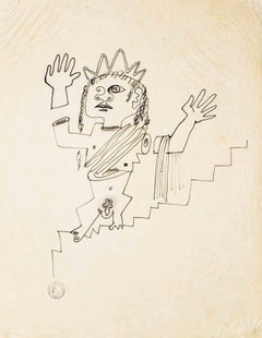 The Goddess - Original Drawing by Jean Cocteau - 1925 ca.