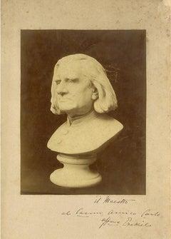 Bust of Franz Liszt - Original Photographic Print by M. J. Ezekiel - 1880s