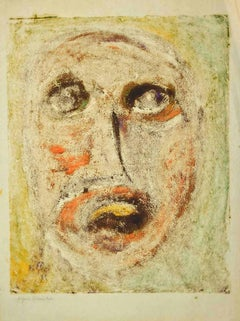 Portrait - Original Drawing on Paper by Sebastiano Carta - 1950s