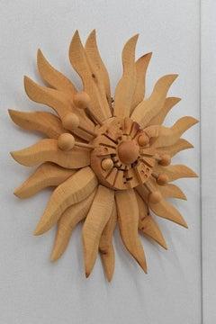 Sun - Original Wooden Sculpture by Ferdinando Codognotto - 2017