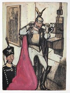 Il Kaiser - Original China Ink/ Tempera by Gabriele Galantara - 1908