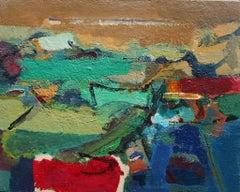 Landscape, Sardinia - Original Acrylic on Cardboard by Paul Nicholls -  2010s