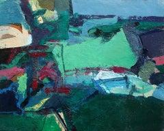 The Green Field - Original Acrylic on Cardboard by Paul Nicholls -  2006