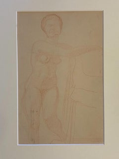 Nude - Original Drawing by Jean Delpech - 1940s