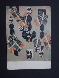 Autograph Postcard Signed by Giuseppe Santomaso - 1955