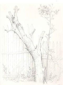 Saint Moreil - Original Pencil Drawing by A. R. Brudieux - 1960s