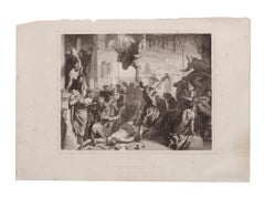 Venice - Original Etching on Paper by Tintoretto (after) - 1870