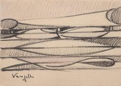 Abstract Sketch - Original Pencil Drawing by Antonio Vangelli - 1944