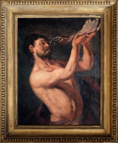 Victorious Samson - Original Oil Painting on Canvas - 1950s