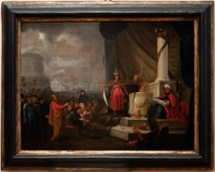 Adoration of the Golden Calf - Oil Painting by Willemsz I de Wet - 17th century