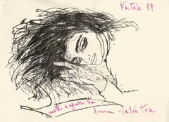 Greeting Card with Drawing by Anna Salvatore - 1959
