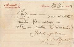 A message from Leonida Bissolati to Ugo Ojetti - 1903