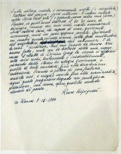 Cover letter to Vespignani's work - 1984