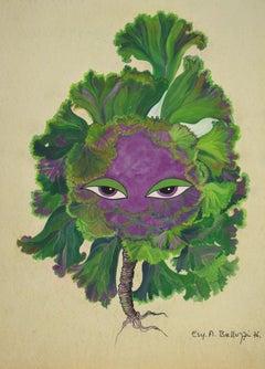 The Plant - Original Drawing by Esy A. Belluzzi - 1976