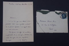 Autograph Greeting Letter Signed by Georges Goyan - 1923